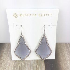 Kendra Scott Alex slate silver earrings